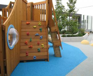 Soft Surfaces use FlexRoc bonded granulated rubber. Molded or contoured the applications are endless.