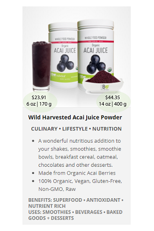 Acai.ca(Juice) - NuBeLeaf Powder Mini-20