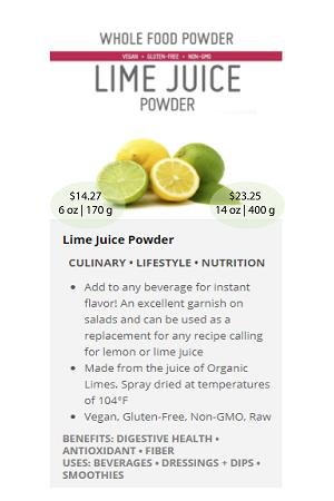Lime.ca (Juice) - NuBeLeaf Powder Mini-24