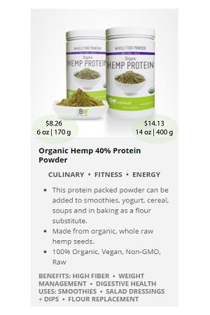 Organic Hemp40 Protein.ca - NuBeLeaf Powder Mini-22