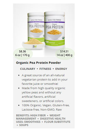 Pea Protein.ca - NuBeLeaf Powder Mini-28