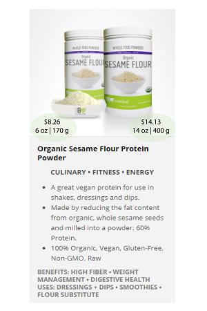 Sesame Flour Protein.ca - NuBeLeaf Powder Mini-33