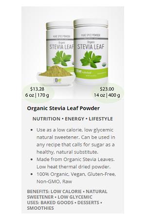 Stevia_Leaf.ca - NuBeLeaf Powder Mini-36
